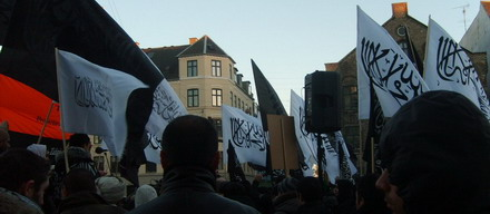 Moslem-Demo in Kopenhagen