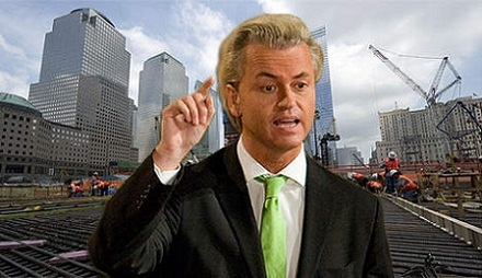 Geert Wilders demonstriert am Ground Zero