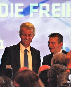 Geert Wilders und René Stadtkewitz am 2.10.2010 in Berlin.