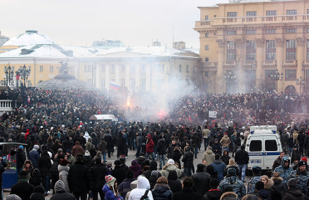Massendemo in Moskau