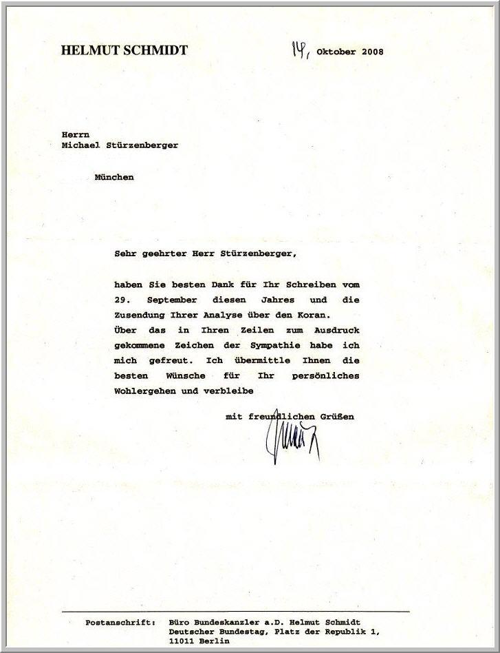 fremden brief erhalten
