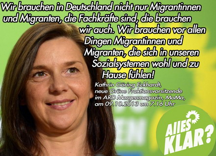 Goring Eckardt Zur Grunen Fluchtlingspolitik Pi News