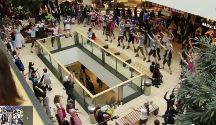 flashmob riem arcaden