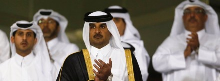 File picture shows Qatar's Crown Prince Sheikh Tamim bin Hamad al-Thani in Doha