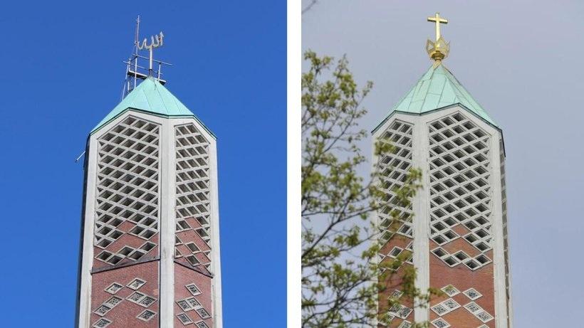 Hamburg Auf Ehemaliger Kapernaum Kirche Prangt Jetzt Der Islamische