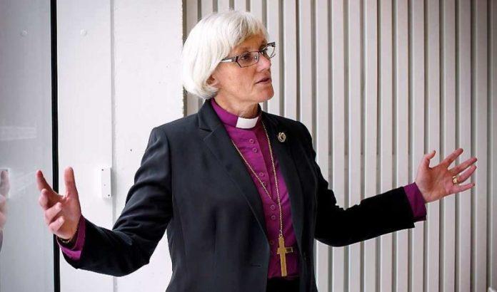 Leiterin der schwedischen Kirche, Erzbischöfin Antje Jackelén – ihr gewähltes Motto bei Amtseinführung war: