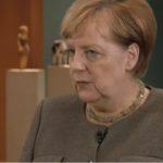 """Angela Merkel (Screenshot aus dem """"Interview"""")."""