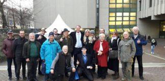 Viel Unterstützung erhielt Michael Stürzenberger beim Berufungsverfahren am 5. Dezember vor dem Landgericht München.