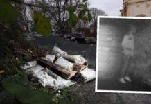 Hier wurde der Obdachlose lebendig vergraben, die Polizei fahndet mit dem Bild aus einer Überwachungskamera nach dem Täter.