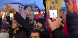 Hitlergruß bei Pali-Demo gegen Trump und Israel, nahe dem Brandenburger Tor.