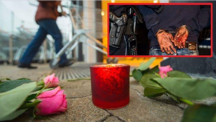 Blumen und Kerzen vor dem Tatort in Kandel (kleines Bild: Symbolfoto).