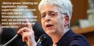 """Christiane Schneider (DIE LINKE) hält polizeiliche Öffentlichkeitsfahndung nach linken Gewalttätern für """"Stimmungsmache""""."""