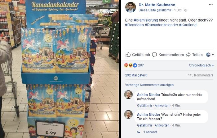 der afd politiker malte kaufmann machte auf seiner facebook seite auf den ramadan kalender von kaufland aufmerksam - Kaufland Online Bewerbung