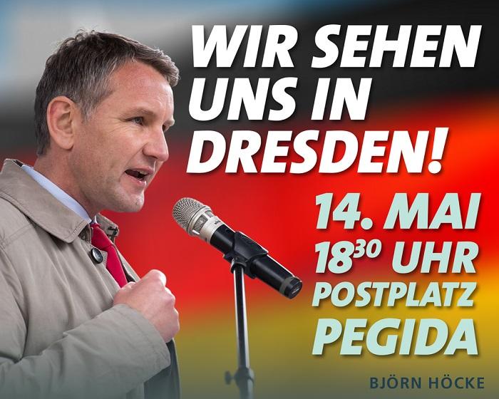 Heute Höcke-Tag bei Pegida Dresden - Livestream ab 18:45 Uhr