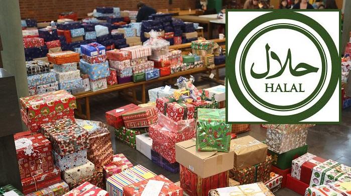 Weihnachtspäckchen für Bedürftige, aber bitte nur Halal!