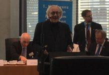 AfD-MdB Martin Renner bei seiner Begrüßungsrede beim 1. FREIE MEDIEN Treffen am 11.5. in Berlin.