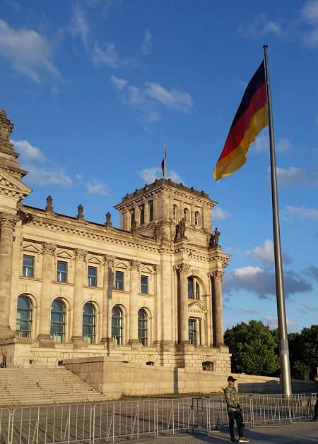 Die deutsche Außengrenze wird künftig am Platz der ...  Die deutsche Au...