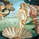 Die Geburt der Venus von Alessandro Botticelli, 1484-1486.