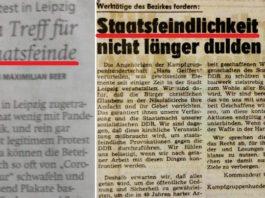 Wie sich die Begriffe gleichen: Artikel (l.) in der Waldeckische Landeszeitung (Nordhessen) vom 9. November 2020 und in der Leipziger Volkszeitung vom 6. Oktober 1989.