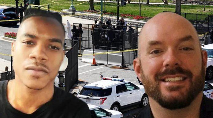 Der 25-jährige Moslem Noah Green (l.) tötete am Freitag gegen 13 Uhr Ortszeit an einem Zugang zum Sitz des US-Kongresses in Washington den 41-jährigen Polizisten William Evans (r.).