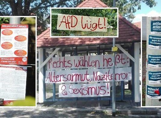 Ganz Althütte wurde von den Linksextremisten verunstaltet.