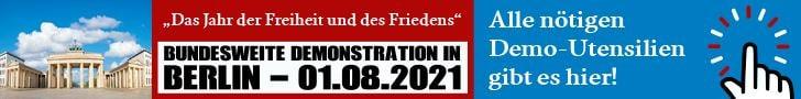 Alle nötigen Utensilien für die Berlin-Demo am 1.8. gibt es hier!