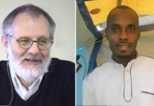 Priester Olivier Maire (l.) hatte seinen Mörder Emmanuel Abayisenga (r.) erst im vergangenen Jahr in seiner Gemeinde aufgenommen.