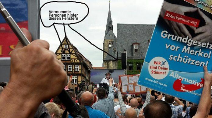 Wahlkampftauftritt von Angela Merkel in Quedlinburg.
