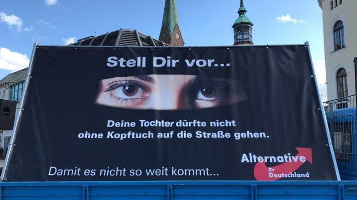 AfD-Wahlplakat in Schwerin.