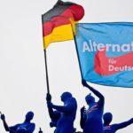 Werbeaktion von AfD-Anhängern in Berlin.