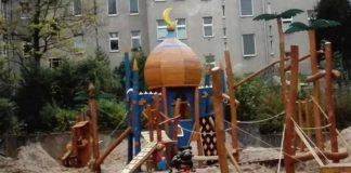 Islamisierungsspielplatz in Berlin-Neukölln.