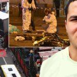 Fotocollage vom Ort des Geschehens (rechts der islamische Mörder Anis Amri).