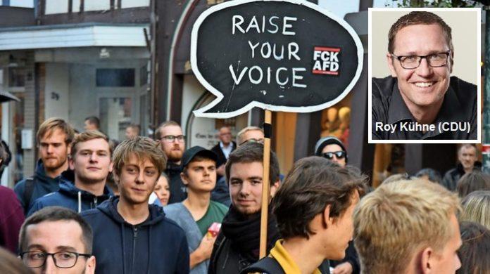 Antifa-Gruppen wie diese - sekundiert vom CDU-Direktkandidaten Roy Kühne - attackierten nach der AfD-Demo in Northeim unschuldige Teilnehmer.