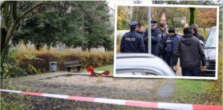 Spielplatz am Büdnerring (kleines Foto: Festnahme des Tatverdächtigen).