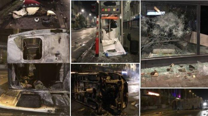 Marokkaner verwüsten die Innenstadt von Brüssel (Fotocollage der Szenerie).