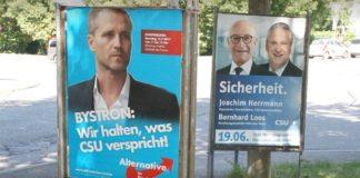 Intelligent platzierte Plakate von Bayerns AfD-Chef Bystron sorgen bei den Anhängern für Begeisterung.