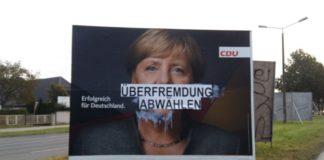 Schnappschuss eines CDU-Wahlplakates an der Bundesstraße 1 in Berlin (Lesereinsendung).