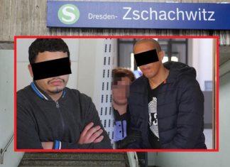 Chakir A. (24) aus Marokko und Radouan K. (27) aus Libyen stießen ihr Opfer auf die S-Bahn-Gleise.