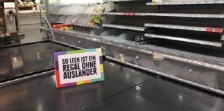 """Der """"Kampf gegen Rechts"""" kennt keine Grenzen - jetzt beteiligen sich auch Supermärkte wie Edeka in Hamburg daran."""