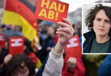 Kam mit ihrem neunjährigen Sohn zur Merkel-Kundgebung nach Finsterwalde - ZEIT-Autorin Jana Hensel.
