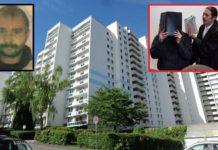 Gebäudekomplex in Köln-Frechen - kulturbereicherter sozialer Brennpunkt und Tatort; kleines Foto li.: das Opfer Hans-Josef K., re.: Täter Ahmet D. mit seinem Anwalt.