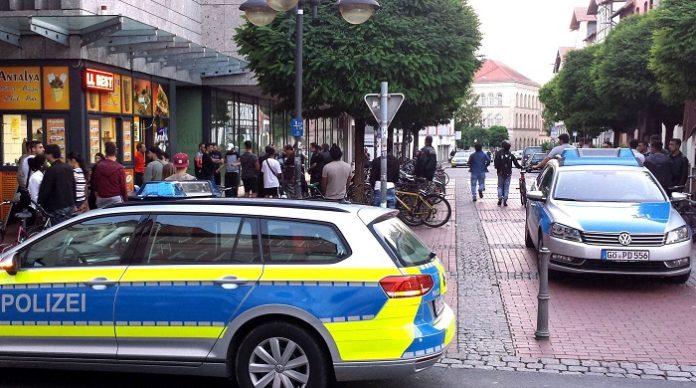 Hier in der Göttinger Innenstadt fand die Massenschlägerei statt. Das Bild sagt alles....