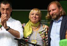 """Grüne """"Spitzenpolitiker"""" Cem Özdemir, Claudia Fatima Roth, Anton Hofreiter."""