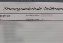 Die mittlerweile geschwärzte List der Heilbronner 1. Klasse.