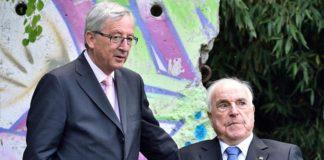 """Junckers """"bunter"""" Schnappschuss kurz vor dem Tod Kohls."""