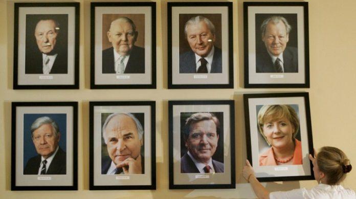 Die deutschen Bundeskanzler seit 1945.