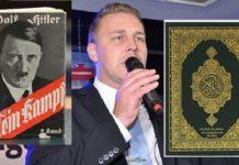 """Der Politiker der Schwedendemokraten, Mattias Karlsson, hat den Koran mit """"Mein Kampf"""" verglichen."""