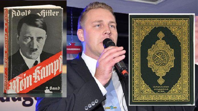 Der Politiker der Schwedendemokraten, Mattias Karlsson, hat den Koran mit