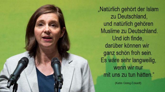Katrin Göring-Eckardt, Vizepräsidentin des Deutschen Bundestages und Spitzenkandidaten der Grünen zu Bundestagswahl 2017.