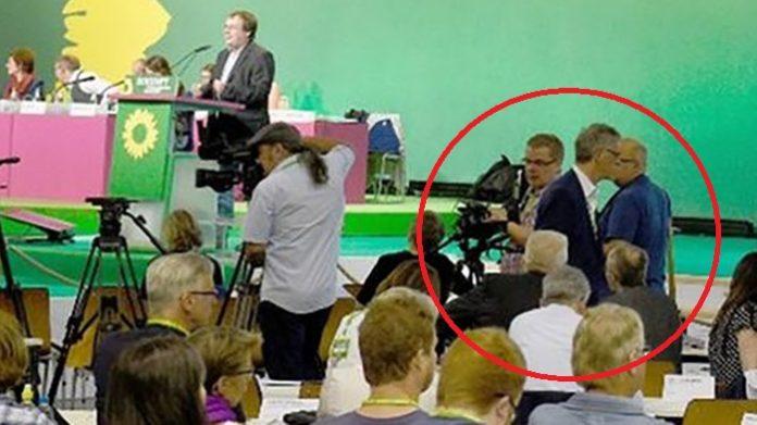 Das dpa-Foto beweist: JouWatch-Reporter Christian Jung stand unmittelbar vor Kretschmann und Gastel.